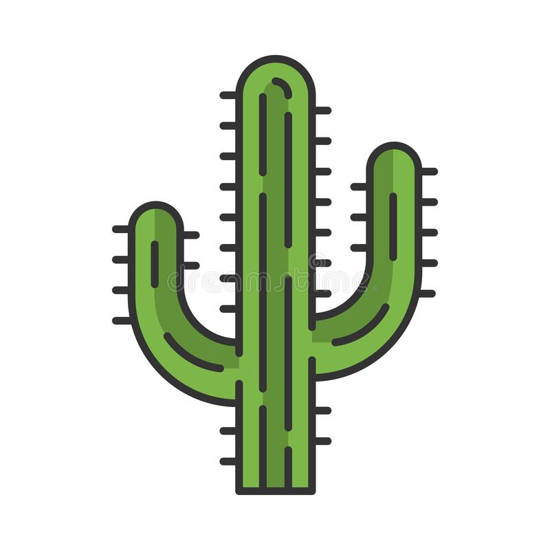Free Saguaro Cactus Color Icon Royalty Free Stock Photography - 178576447