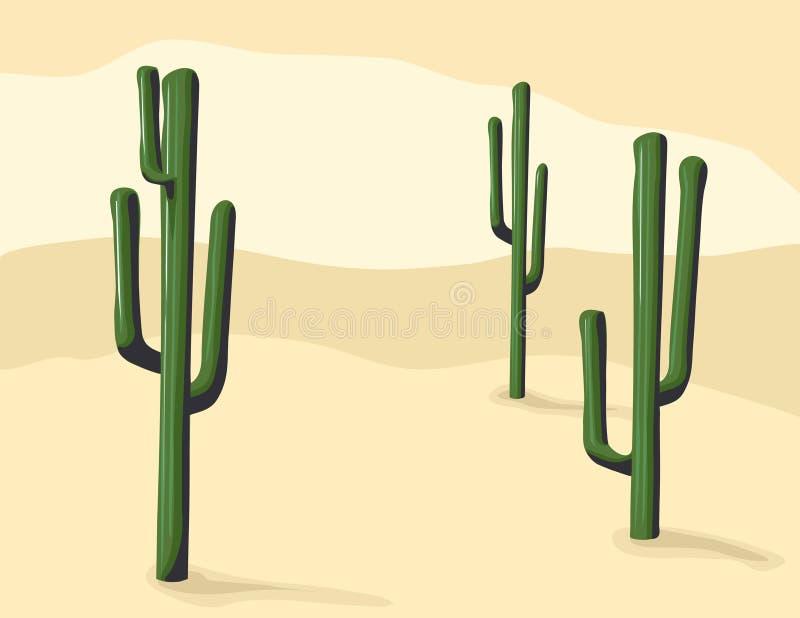 Saguaro-Kaktus stock abbildung