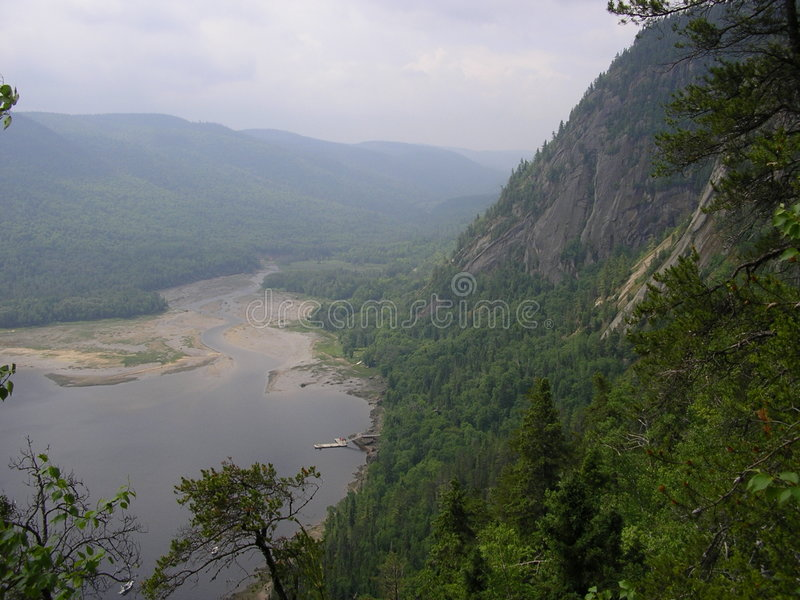 saguenay fjord 2 arkivfoto