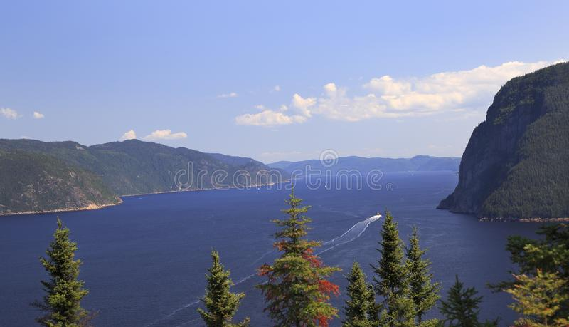 Saguenay Fjord in Quebec, Canada. Saguenay Fjord close to Trinité Head in Quebec, Canada stock photography