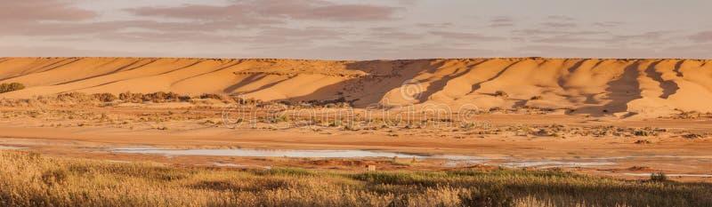 Saguia埃尔哈木尔河在Laayoune 免版税库存照片
