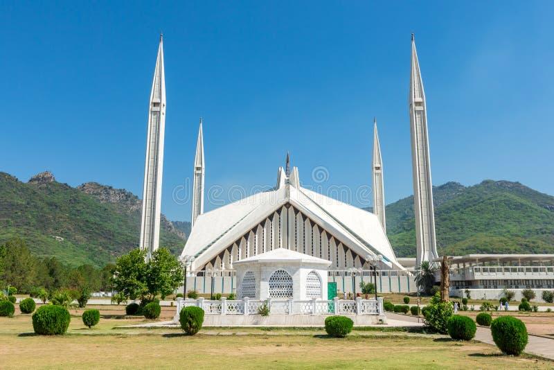 Sah Faisal Mosque en Islamabad, Paquistán fotos de archivo