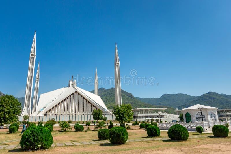 Sah Faisal Mosque en Islamabad, Paquistán fotografía de archivo libre de regalías