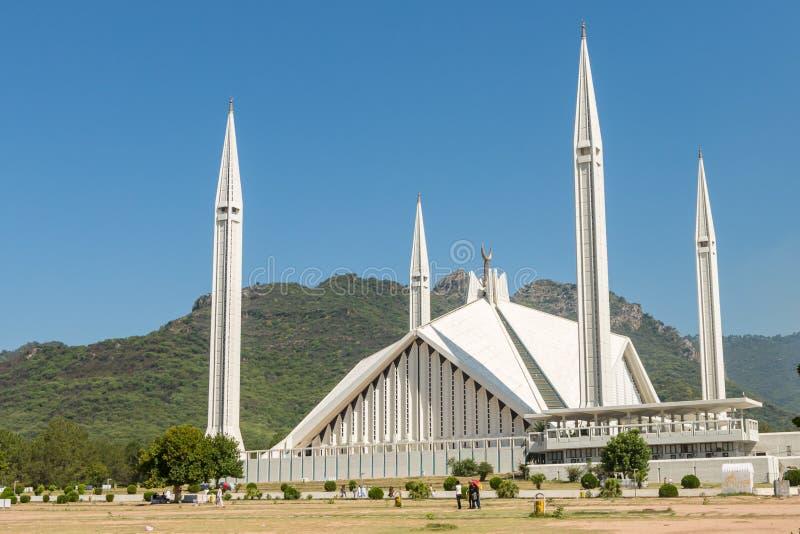 Sah Faisal Mosque en Islamabad, Paquistán imagen de archivo