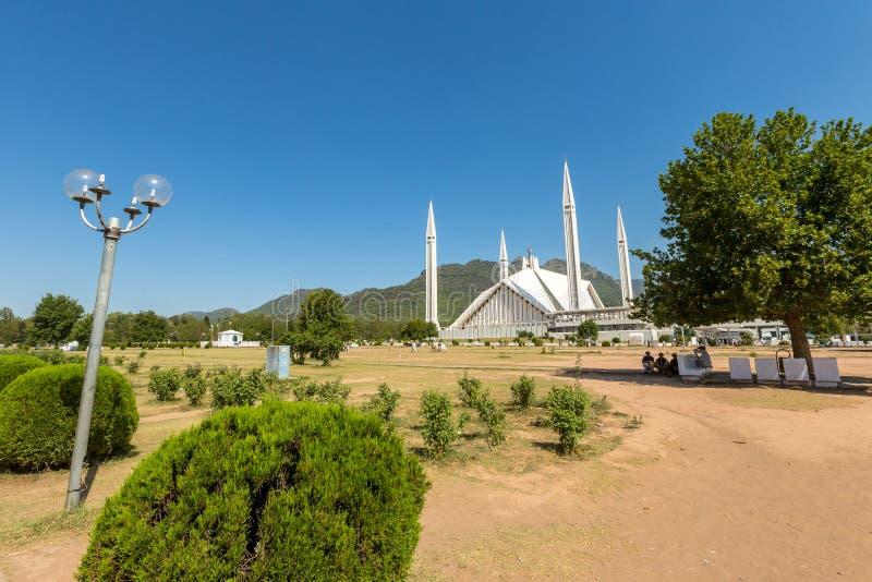 Sah Faisal Mosque en Islamabad, Paquistán imagenes de archivo