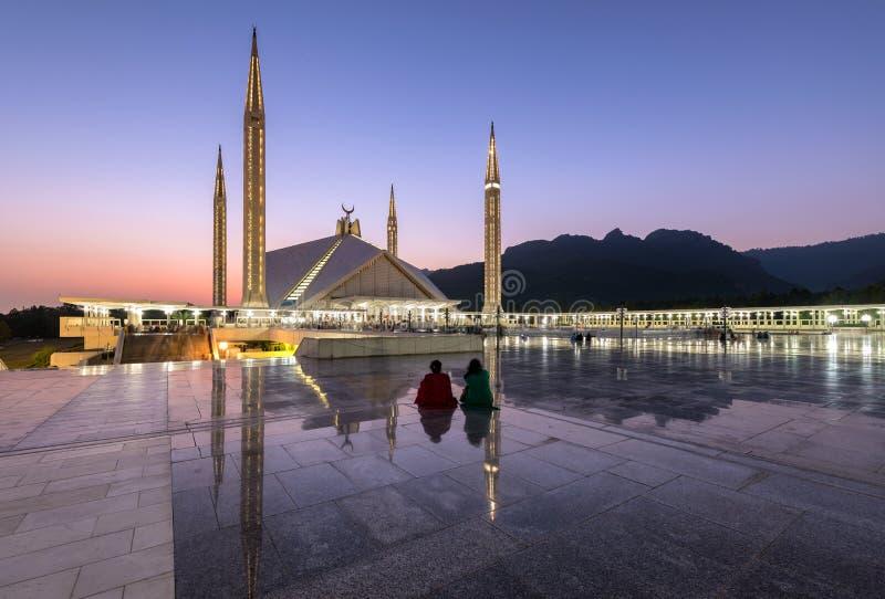 Sah Faisal Mosque Islamabad Pakistan fotografía de archivo libre de regalías