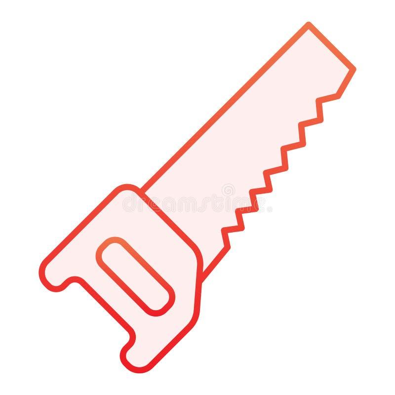 Sah flache Ikone Rote Ikonen der Zimmerei in der modischen flachen Art Karrensteigungs-Artentwurf, bestimmt f?r Netz und App ENV  vektor abbildung