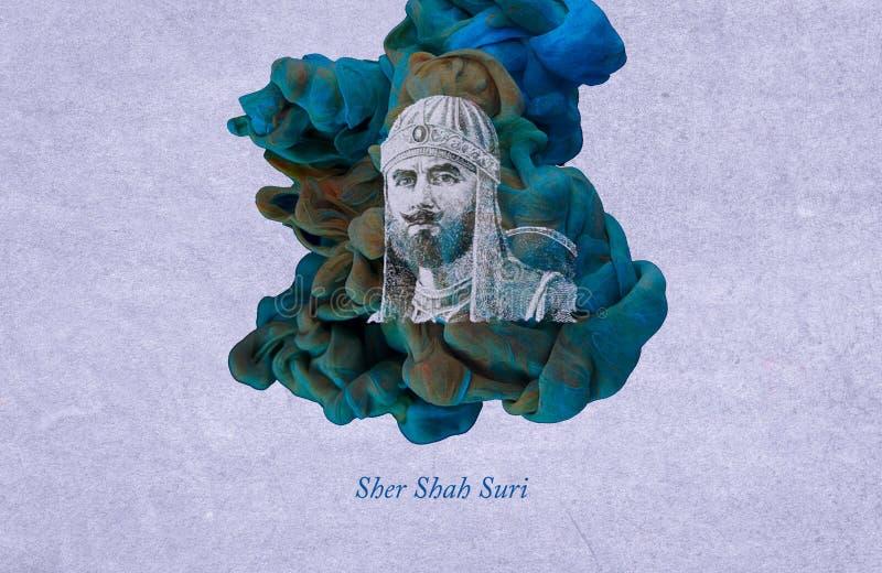Sah Suri de Sher stock de ilustración