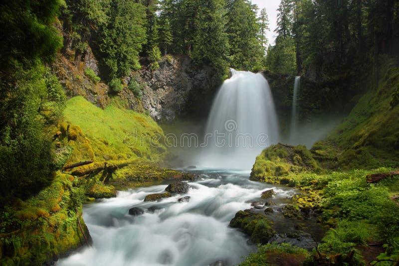 Sahalie Fälle, Oregon stockfoto