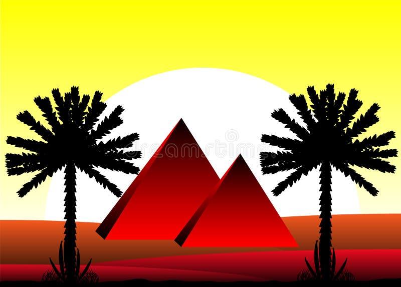 Sahara desert royalty free illustration
