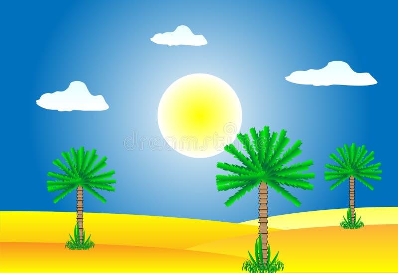Sahara desert vector illustration