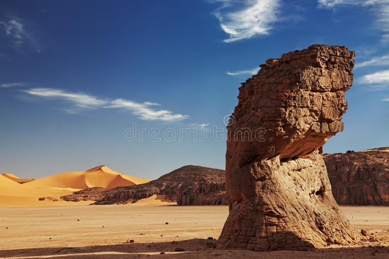 Sahara Desert, Algeria. Sand dunes and rocks, Sahara Desert, Algeria stock photos