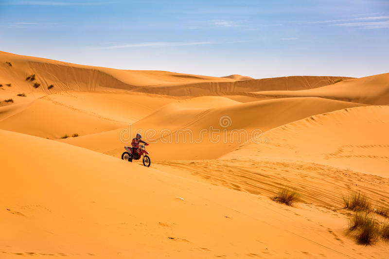 Sahara Desert is also a place for different extreme sports. Sahara Desert in Morocco is also a place for different extreme sports royalty free stock photo