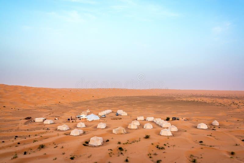 Sahara Desert Campground image stock