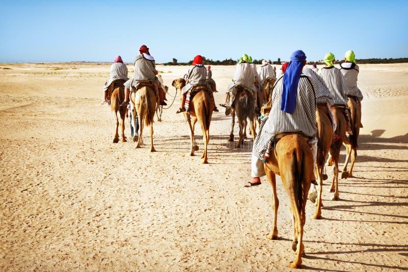 Sahara desert. People in the Sahara desert royalty free stock photos