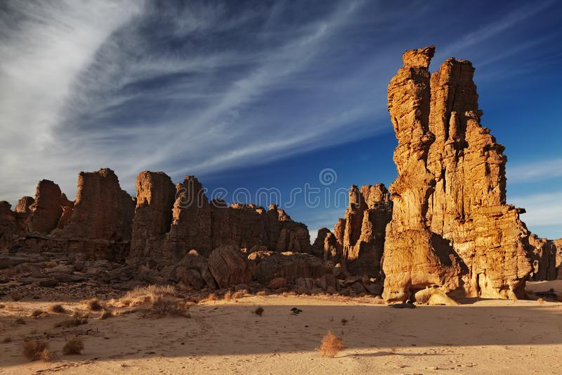 Sahara Desert, Tassili N ` Ajjer, Algerije stock foto's