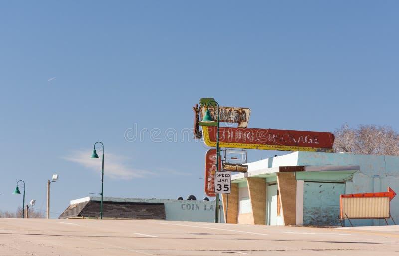 Sahara holu neonowy znak zdjęcia royalty free