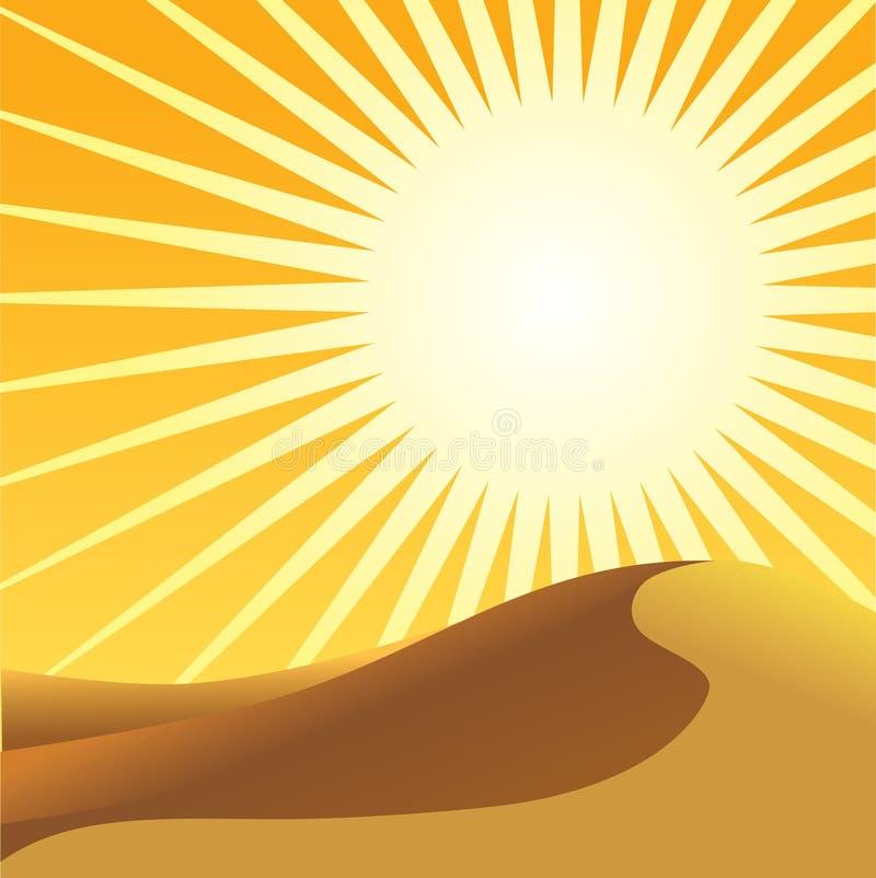 Sahara i słońce ilustracja wektor