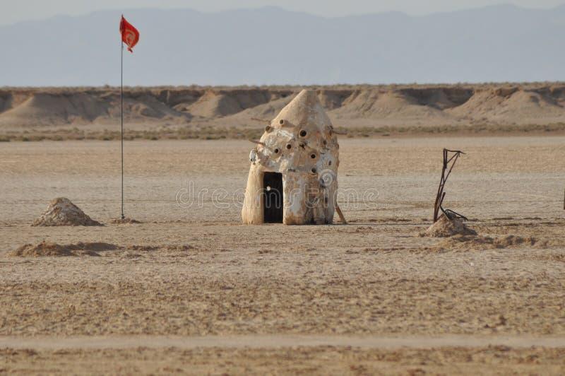 Sahara norte, cabana no deserto imagens de stock royalty free