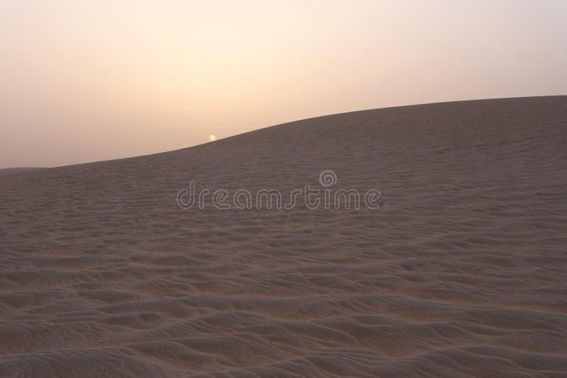 sahara pustynny zmierzch fotografia stock