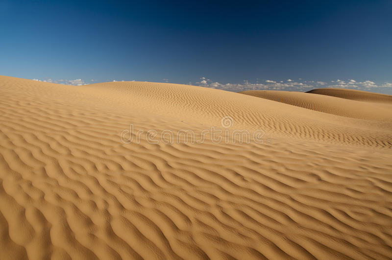 Sahara sand pattern. Pattern created by the wind in the sand, dunes of the Sahara desert stock image