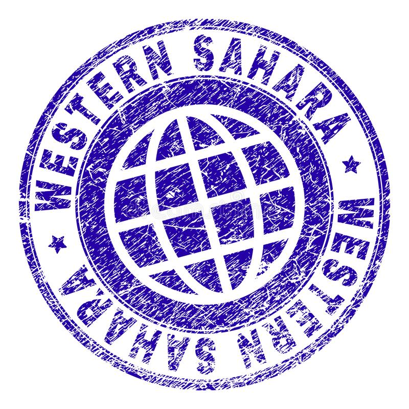 SAHARA Stamp Seal OCCIDENTALE strutturata graffiata illustrazione vettoriale