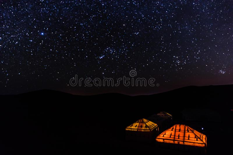 Sahara Starry Night foto de archivo libre de regalías