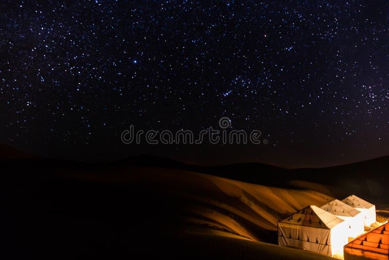 Sahara Starry Night fotografía de archivo libre de regalías