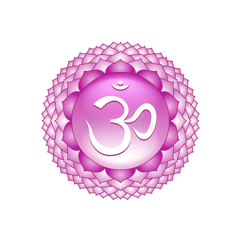 Sahasrara chakra symbol on white vector stock illustration