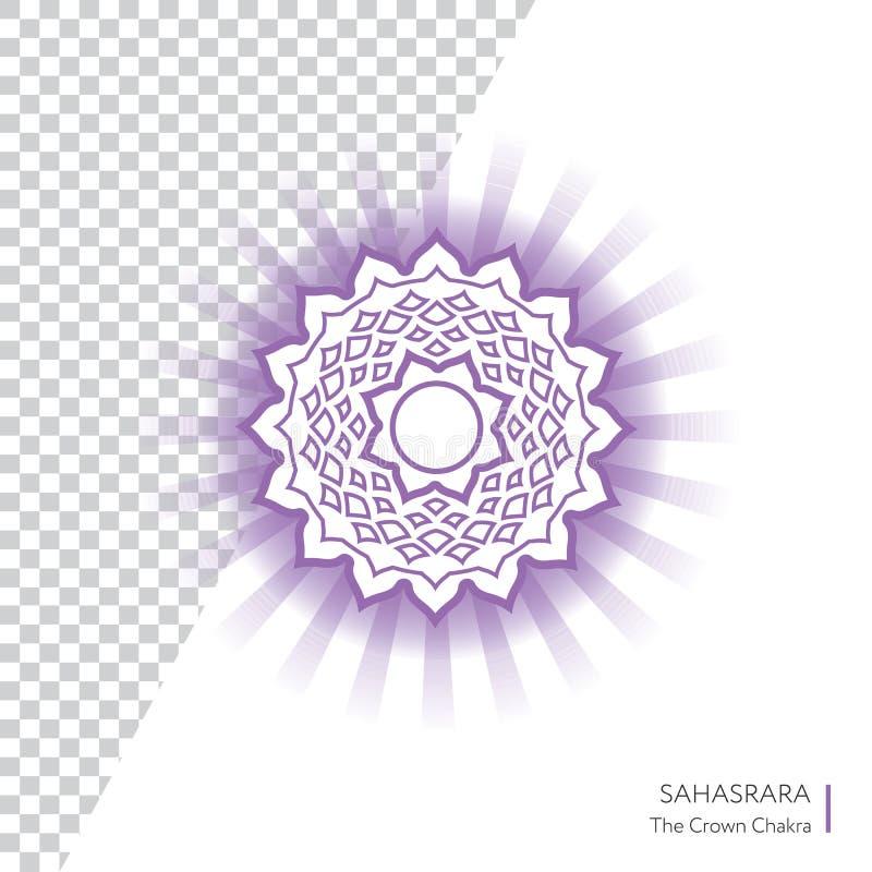 Sahasrara L'icône de vecteur de Chakra de couronne illustration libre de droits