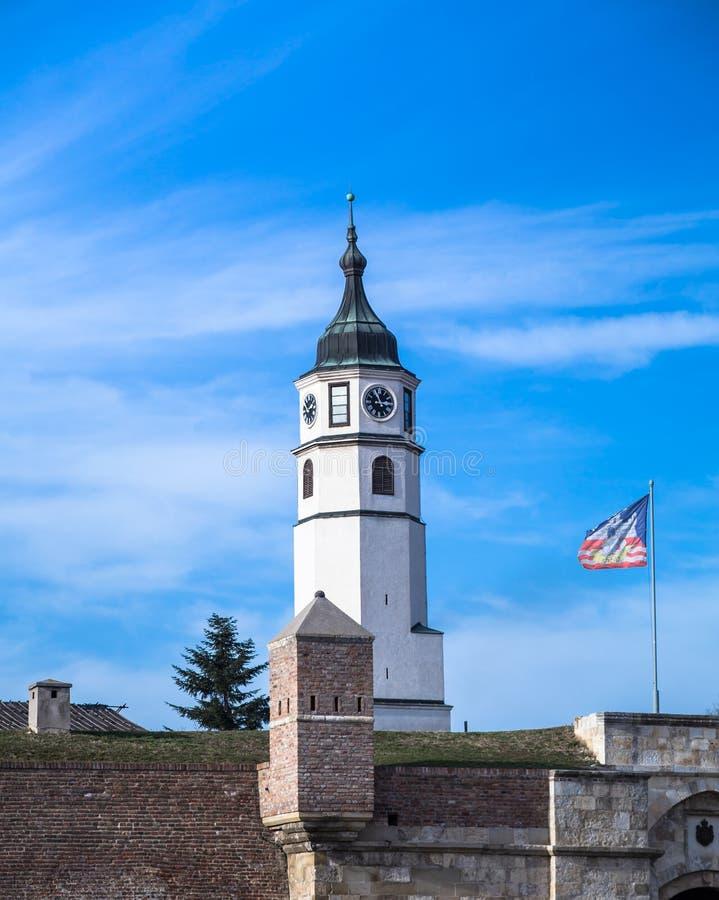 Sahat Kula. Clock Tower Belgrade Serbia stock photo