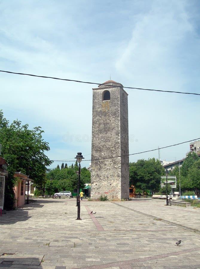 Sahat Kula het historische gebouw Oud Turkije van de Klokketoren 17de eeuw stock afbeeldingen