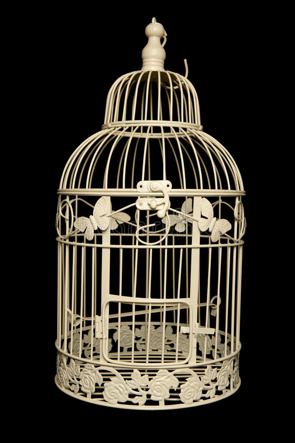 Sahbby chic bird cage stock photos