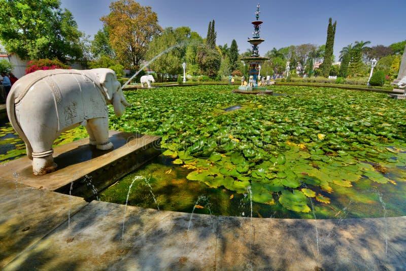 Saheliyon Ki Bari trädgård Udaipur Rajasthan india royaltyfria bilder