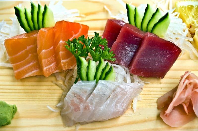 sahimi меню 3 ед японское стоковые фото