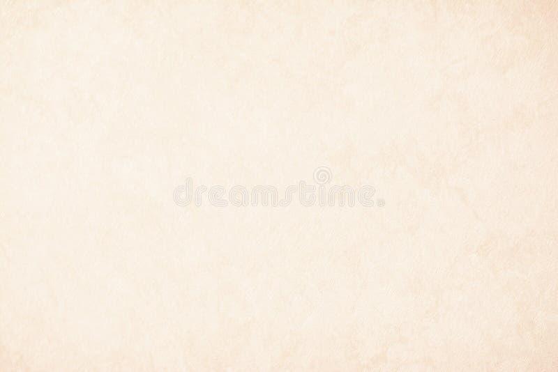 Sahnebeschaffenheitshintergrundpapier in der beige Weinlesefarbe, Pergamentpapier, abstrakte Pastellgoldsteigung mit dem Braun, f stockbild