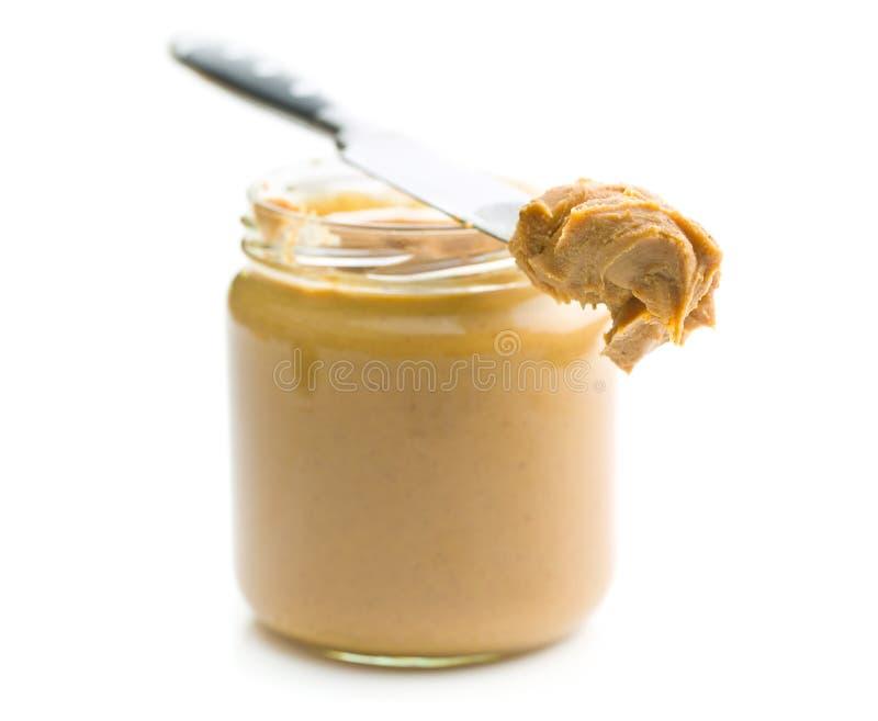 Sahnige Erdnussbutter lizenzfreie stockfotos