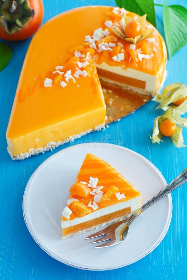 Sahniger Kuchen mit Kokosnuss stockfotos