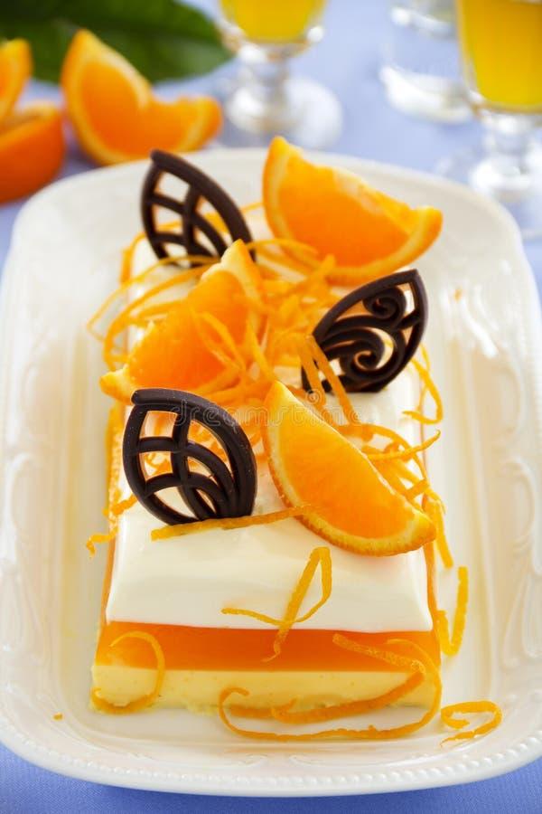 Sahniges orange Gelee lizenzfreie stockfotos
