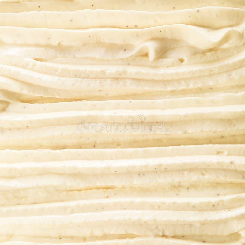 Sahniges reiches Vanille Italienereisdessert stockfotografie