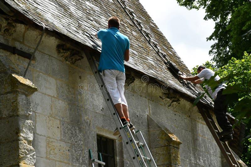 Sahurs, França - 22 de junho de 2016: Solar de Marbeuf imagem de stock royalty free