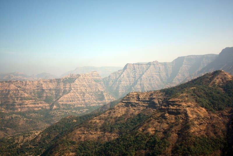 sahyadri de montagnes de fond photographie stock libre de droits
