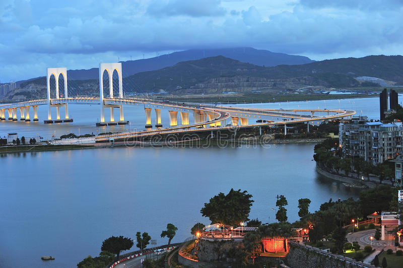 Sai范bridge在澳门 库存照片