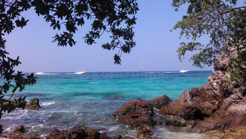 Sai Daeng beach on Koh Lan, Thailand. royalty free stock images