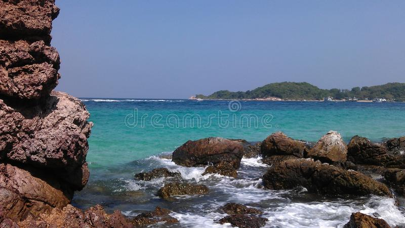 Sai Daeng beach on Koh Lan, Thailand stock photos