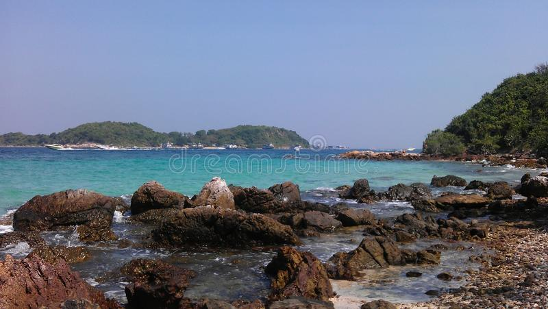 Sai Daeng beach on Koh Lan, Thailand stock photo