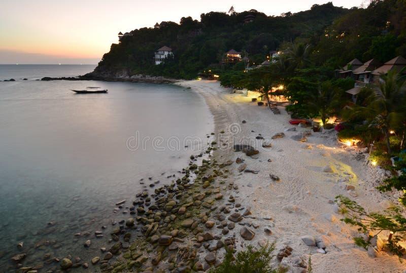 Sai Daeng plaża przy świtem koh Tao Chumphon archipelag Tajlandia obraz royalty free