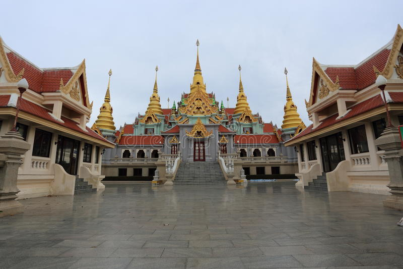 Sai de thang de Wat dans Prachuapkhirikhan photographie stock