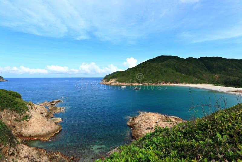 Sai glåmig strand i Hong Kong fotografering för bildbyråer