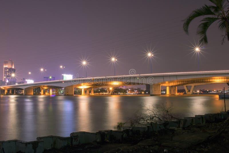 Sai Gon-Brücke, Ho Chi Minh Stadt, Vietnam stockbilder